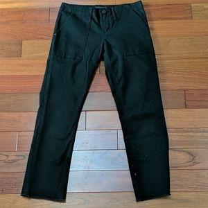 Sanctuary Cargo Fray Hem Black Jeans Pants 25